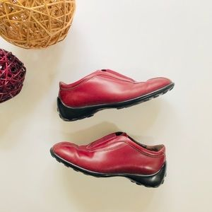 Tod's red driving/bowling shoes, Sz. 38